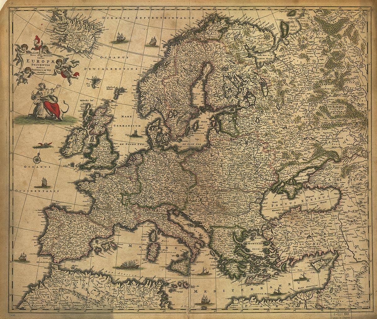Συλλεκτικοί χάρτες - Europe[1700]